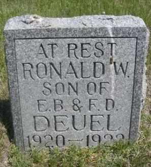 DEUEL, RONALD W. - Sioux County, Nebraska | RONALD W. DEUEL - Nebraska Gravestone Photos
