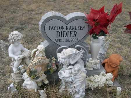 DIDIER, PAYTON KARLEEN - Sioux County, Nebraska | PAYTON KARLEEN DIDIER - Nebraska Gravestone Photos
