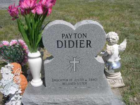 DIDIER, PAYTON - Sioux County, Nebraska | PAYTON DIDIER - Nebraska Gravestone Photos