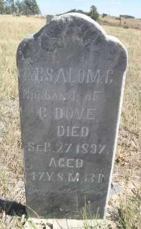 DOVE, ABSALOM C. - Sioux County, Nebraska | ABSALOM C. DOVE - Nebraska Gravestone Photos