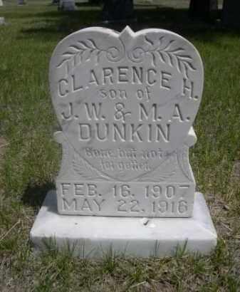 DUNKIN, CLARENCE H. - Sioux County, Nebraska   CLARENCE H. DUNKIN - Nebraska Gravestone Photos