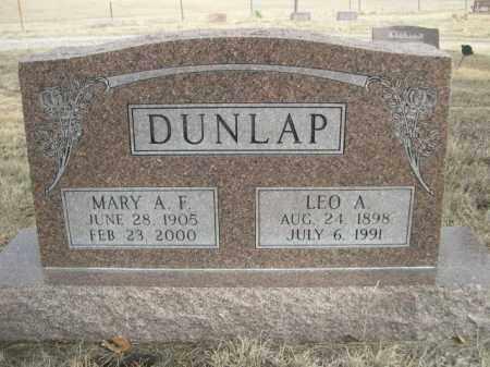 DUNLAP, MARY A. F. - Sioux County, Nebraska | MARY A. F. DUNLAP - Nebraska Gravestone Photos