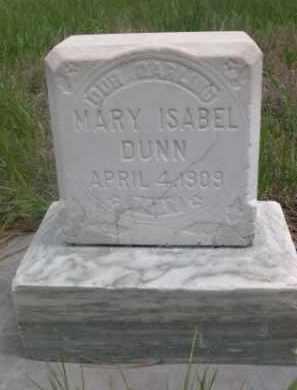 DUNN, MARY ISABEL - Sioux County, Nebraska | MARY ISABEL DUNN - Nebraska Gravestone Photos