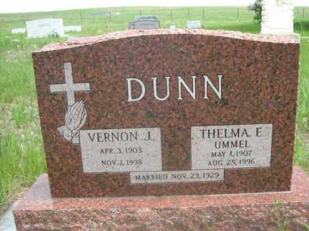 DUNN, VERNON J. - Sioux County, Nebraska | VERNON J. DUNN - Nebraska Gravestone Photos