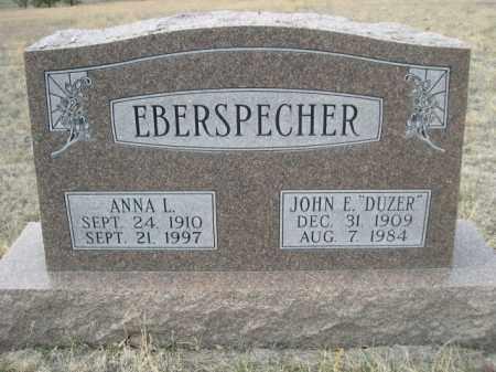 EBERSPECHER, ANNA L. - Sioux County, Nebraska   ANNA L. EBERSPECHER - Nebraska Gravestone Photos