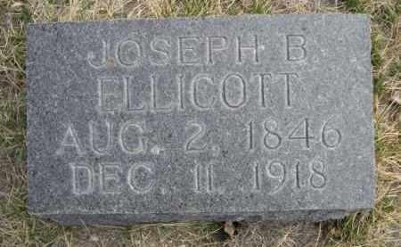 ELLICOTT, JOSEPH B. - Sioux County, Nebraska | JOSEPH B. ELLICOTT - Nebraska Gravestone Photos