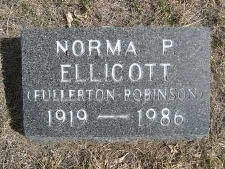 FULLERTON-ROBINSON ELLICOTT, NORMA P. - Sioux County, Nebraska | NORMA P. FULLERTON-ROBINSON ELLICOTT - Nebraska Gravestone Photos