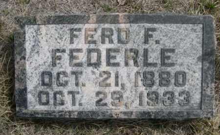 FEDERLE, FERD F. - Sioux County, Nebraska   FERD F. FEDERLE - Nebraska Gravestone Photos