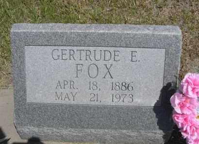FOX, GERTRUDE E. - Sioux County, Nebraska | GERTRUDE E. FOX - Nebraska Gravestone Photos