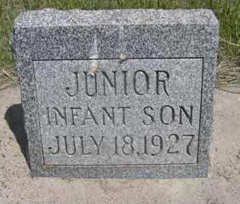FOX, JUNIOR, INFANT SON - Sioux County, Nebraska | JUNIOR, INFANT SON FOX - Nebraska Gravestone Photos
