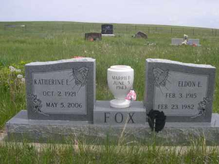 FOX, KATHERINE E. - Sioux County, Nebraska | KATHERINE E. FOX - Nebraska Gravestone Photos