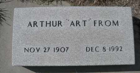 "FROM, ARTHUR ""ART"" - Sioux County, Nebraska 