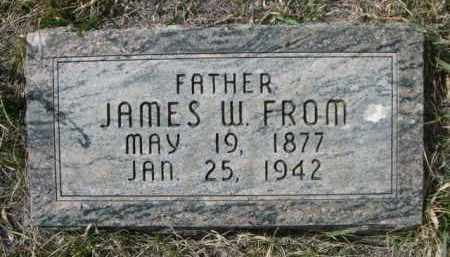 FROM, JAMES W. - Sioux County, Nebraska | JAMES W. FROM - Nebraska Gravestone Photos