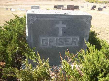 GEISER, FAMILY - Sioux County, Nebraska | FAMILY GEISER - Nebraska Gravestone Photos
