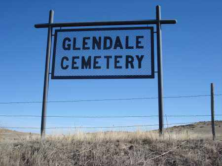 *GLENDALE CEMETERY, SIGN FOR - Sioux County, Nebraska   SIGN FOR *GLENDALE CEMETERY - Nebraska Gravestone Photos