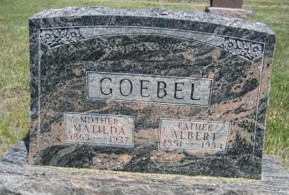 GOEBEL, MATILDA - Sioux County, Nebraska   MATILDA GOEBEL - Nebraska Gravestone Photos