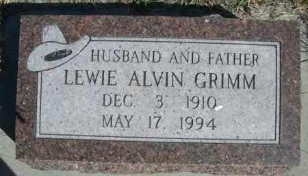 GRIMM, LEWIE ALVIN - Sioux County, Nebraska   LEWIE ALVIN GRIMM - Nebraska Gravestone Photos