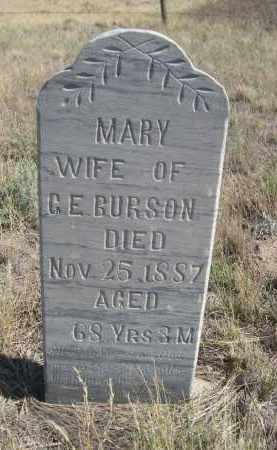 GURSON, MARY - Sioux County, Nebraska | MARY GURSON - Nebraska Gravestone Photos