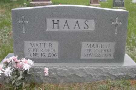 HAAS, MARIE J. - Sioux County, Nebraska | MARIE J. HAAS - Nebraska Gravestone Photos