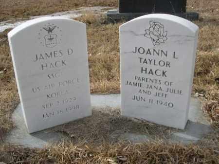 HACK, JAMES D. - Sioux County, Nebraska | JAMES D. HACK - Nebraska Gravestone Photos