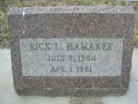 HAMAKER, RICK L. - Sioux County, Nebraska | RICK L. HAMAKER - Nebraska Gravestone Photos