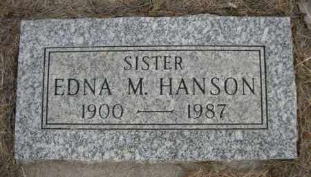 HANSON, EDNA M. - Sioux County, Nebraska | EDNA M. HANSON - Nebraska Gravestone Photos