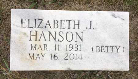 HANSON, ELIZABETH J. - Sioux County, Nebraska | ELIZABETH J. HANSON - Nebraska Gravestone Photos