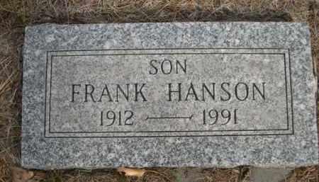 HANSON, FRANK - Sioux County, Nebraska | FRANK HANSON - Nebraska Gravestone Photos
