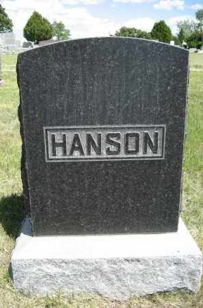 HANSON, FAMILY - Sioux County, Nebraska | FAMILY HANSON - Nebraska Gravestone Photos