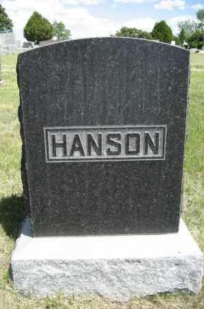 HANSON, FAMILY - Sioux County, Nebraska   FAMILY HANSON - Nebraska Gravestone Photos