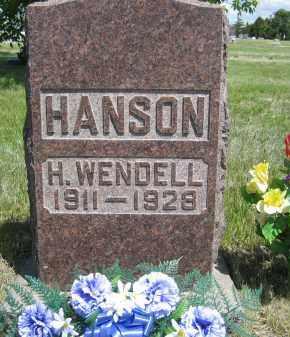 HANSON, H. WENDELL - Sioux County, Nebraska   H. WENDELL HANSON - Nebraska Gravestone Photos