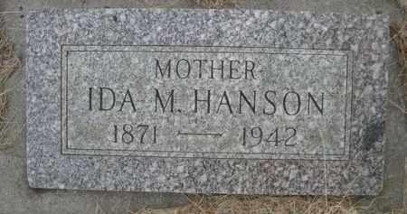 HANSON, IDA M. - Sioux County, Nebraska | IDA M. HANSON - Nebraska Gravestone Photos