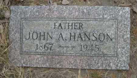 HANSON, JOHN A. - Sioux County, Nebraska | JOHN A. HANSON - Nebraska Gravestone Photos
