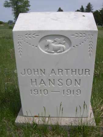HANSON, JOHN ARTHUR - Sioux County, Nebraska   JOHN ARTHUR HANSON - Nebraska Gravestone Photos
