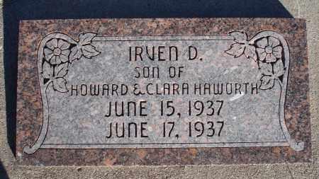 HAWORTH, IRVEN D. - Sioux County, Nebraska | IRVEN D. HAWORTH - Nebraska Gravestone Photos