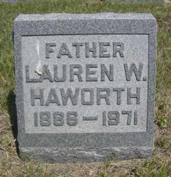 HAWORTH, LAUREN W. - Sioux County, Nebraska   LAUREN W. HAWORTH - Nebraska Gravestone Photos