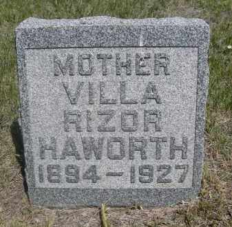 RIZOR HAWORTH, VILLA - Sioux County, Nebraska   VILLA RIZOR HAWORTH - Nebraska Gravestone Photos