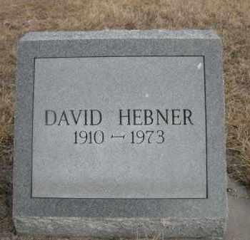 HEBNER, DAVID - Sioux County, Nebraska | DAVID HEBNER - Nebraska Gravestone Photos