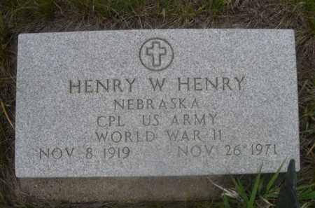 HENRY, HENRY W. - Sioux County, Nebraska | HENRY W. HENRY - Nebraska Gravestone Photos