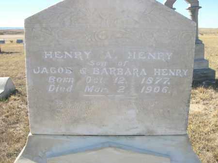 HENRY, HENRY A. - Sioux County, Nebraska | HENRY A. HENRY - Nebraska Gravestone Photos