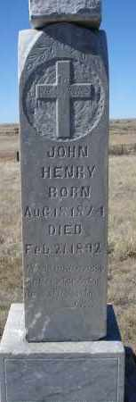 HENRY, JOHN - Sioux County, Nebraska | JOHN HENRY - Nebraska Gravestone Photos