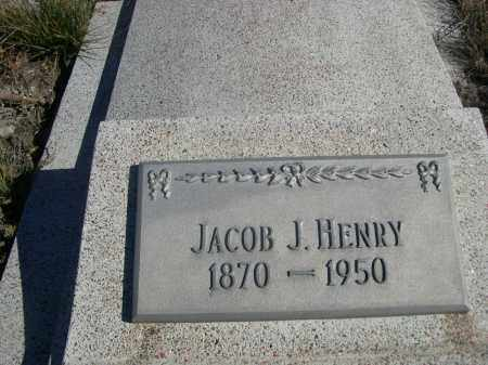 HENRY, JACOB J. - Sioux County, Nebraska | JACOB J. HENRY - Nebraska Gravestone Photos