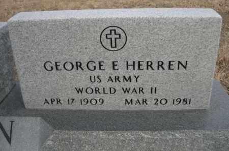 HERREN, GEORGE E. - Sioux County, Nebraska | GEORGE E. HERREN - Nebraska Gravestone Photos