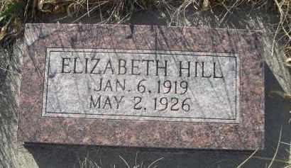 HILL, ELIZABETH - Sioux County, Nebraska   ELIZABETH HILL - Nebraska Gravestone Photos