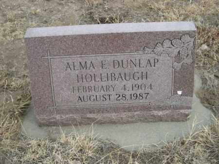 DUNLAP HOLLIBAUGH, ALMA E. - Sioux County, Nebraska | ALMA E. DUNLAP HOLLIBAUGH - Nebraska Gravestone Photos