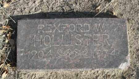 HOLLISTER, REXFORD W. - Sioux County, Nebraska | REXFORD W. HOLLISTER - Nebraska Gravestone Photos