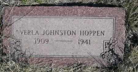 HOPPEN, VERLA JOHNSTON - Sioux County, Nebraska   VERLA JOHNSTON HOPPEN - Nebraska Gravestone Photos