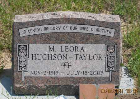 HUGHSON-TAYLOR, M. LEORA - Sioux County, Nebraska | M. LEORA HUGHSON-TAYLOR - Nebraska Gravestone Photos