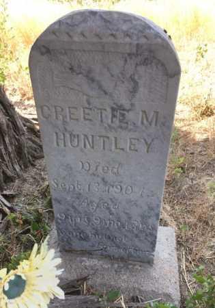 HUNTLEY, GREETIE M - Sioux County, Nebraska   GREETIE M HUNTLEY - Nebraska Gravestone Photos