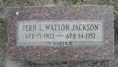 WATSON JACKSON, FERN L. - Sioux County, Nebraska | FERN L. WATSON JACKSON - Nebraska Gravestone Photos